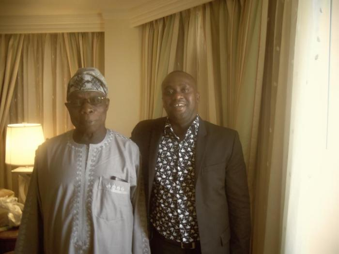 Femi Soneye with Former President Olusegun Obasanjo